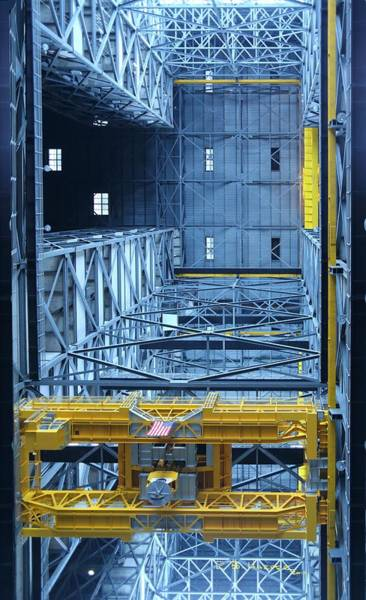 Photograph - Inside The Vehicle Assembly Building by R B Harper