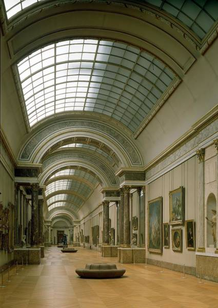 Palais Photograph - Interior View Of The Grande Galerie, 16th-19th Century Photo by French School