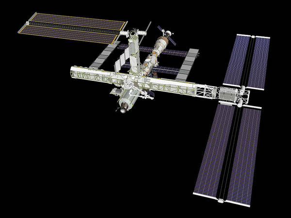Iss Photograph - International Space Station (iss) by Nasa/science Photo Library