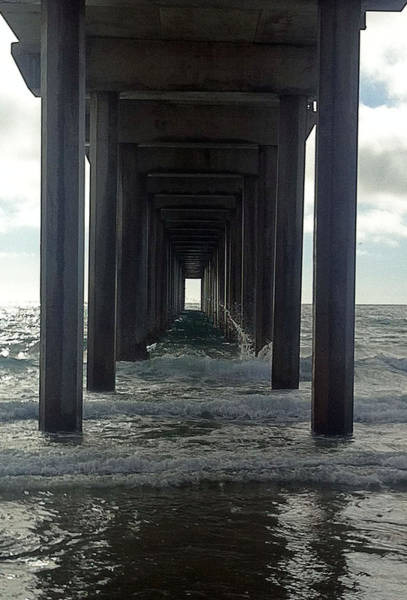 Scripps Pier Photograph - Into The Ocean by Beth Chenoweth