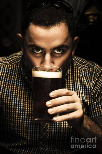 Photograph - Irish Man Drinking Beer On St Patricks Day by Jorgo Photography - Wall Art Gallery