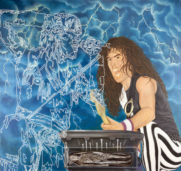 Bruce Dickinson Wall Art - Painting - Iron Maiden by Sue Brehm