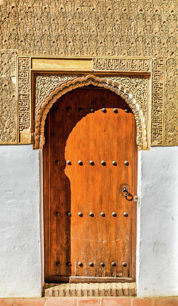 Patio Photograph - Islamic-style Doorway In Granada, Spain by Starcevic