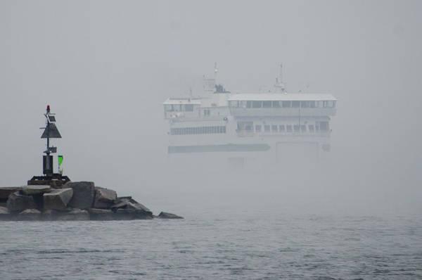 Island Home In Fog Art Print