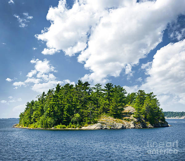 Islands Photograph - Island In Georgian Bay by Elena Elisseeva