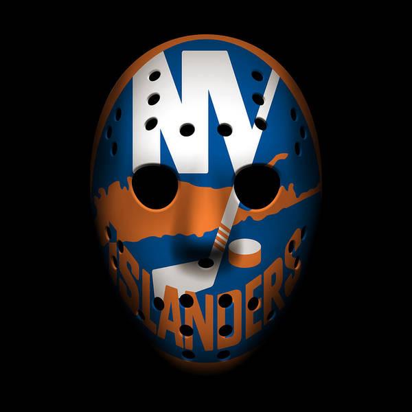 New York Islanders Photograph - Islanders Goalie Mask by Joe Hamilton