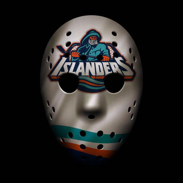 New York Islanders Photograph - Islanders Jersey Mask by Joe Hamilton