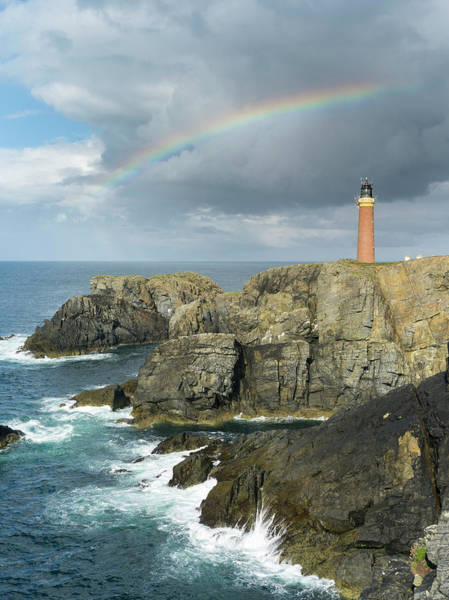 Butt Photograph - Isle Of Lewis, Coast And Lighthouse by Martin Zwick