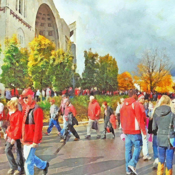 Digital Art - It Is Game Day Saturday At The Ohio State University by Digital Photographic Arts