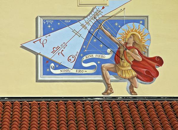 Friuli Photograph - Italian Sundial by Babak Tafreshi/science Photo Library