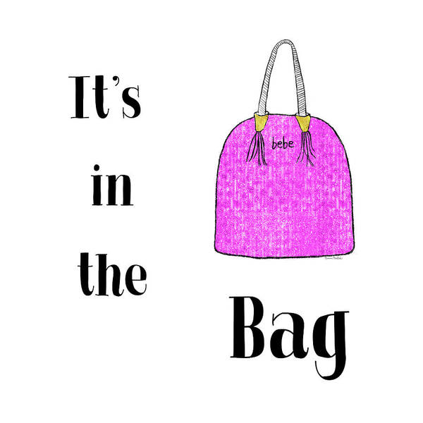 Girly Girl Painting - It's In The Bag by Ramona Murdock