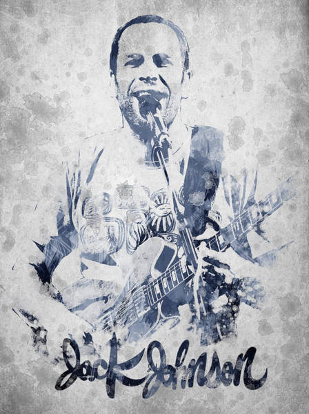 Indie Wall Art - Digital Art - Jack Johnson Portrait by Aged Pixel