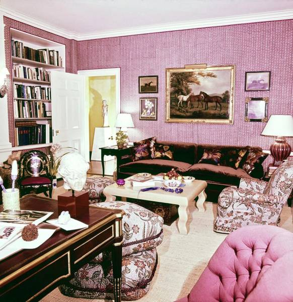 Wall Art - Photograph - Jackie Onassis's Library by Horst P. Horst