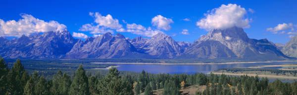 Escarpment Photograph - Jackson Lake And Grand Tetons, Grand by Panoramic Images