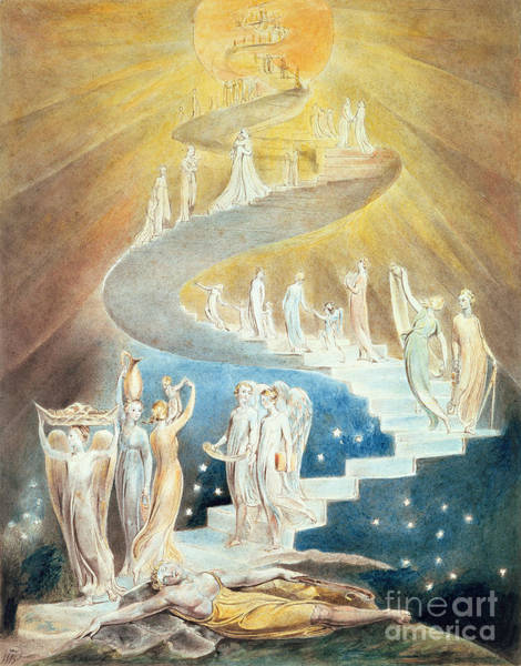 Crt Painting - Jacob's Ladder by William Blake