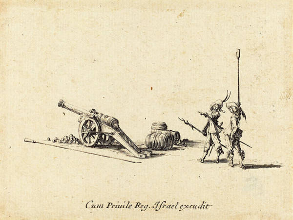 Prepare Drawing - Jacques Callot French, 1592 - 1635, Preparing To Fire by Quint Lox