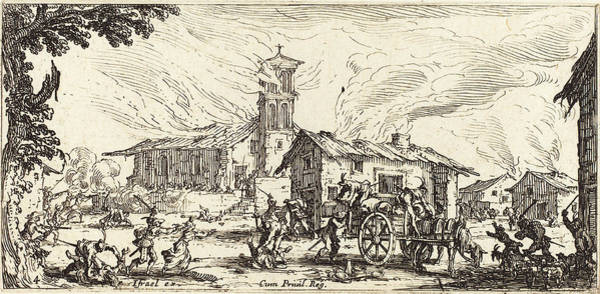 Wall Art - Drawing - Jacques Callot French, 1592 - 1635, Ravaging And Burning by Quint Lox