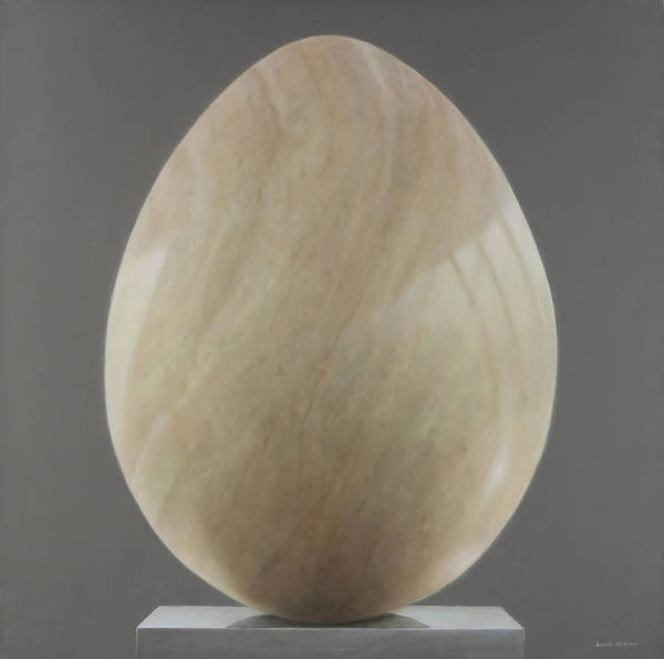 Jade Photograph - Jade Egg, 2012 Acrylic On Canvas by Lincoln Seligman