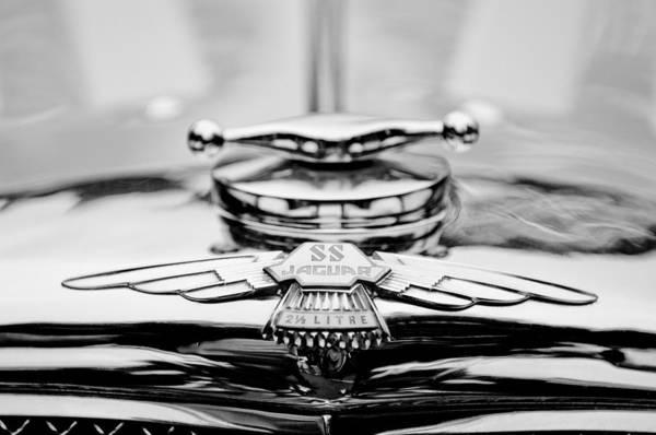 Photograph - Jaguar Emblem by Jill Reger