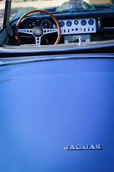 Photograph - Jaguar Steering Wheel - Emblem by Jill Reger