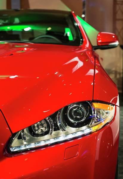 Auto Show Photograph - Jaguar Xjr by Jim West
