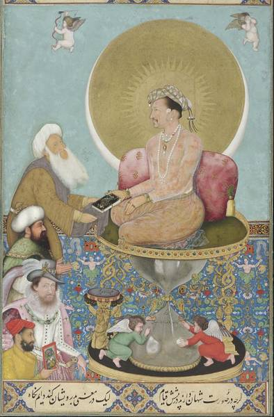 Painting - Jahangir Preferring A Sufi Sheikh To Kings by Celestial Images