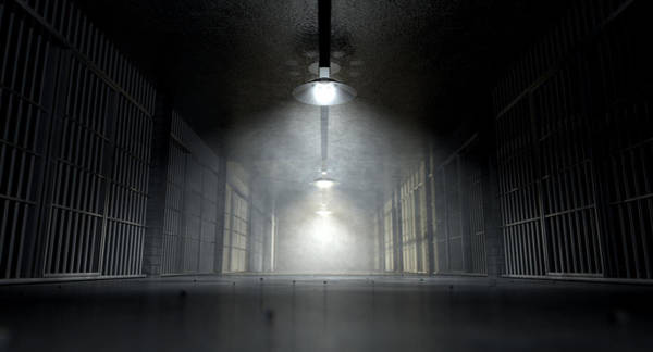 Cell Digital Art - Jail Corridor And Cells by Allan Swart