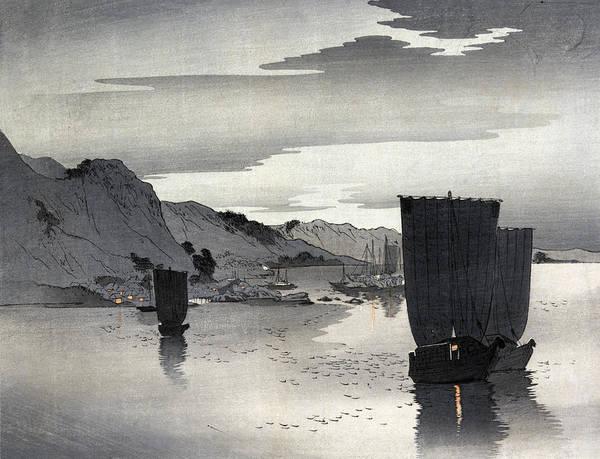 Wall Art - Painting - Japan Sailboats, C1910 by Granger