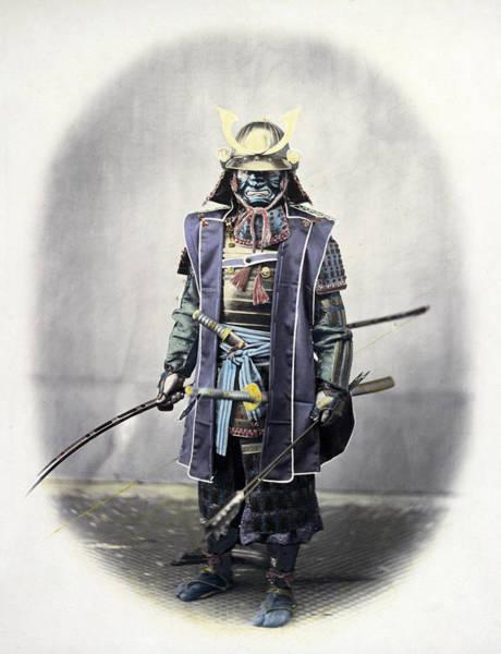 Wall Art - Photograph - Japan Warrior, C1866 by Granger