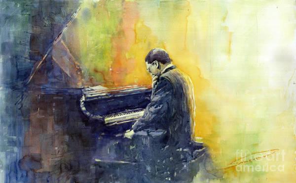 Pianos Painting - Jazz Herbie Hancock  by Yuriy Shevchuk