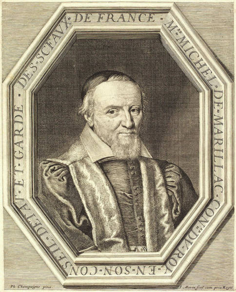 Stipple Drawing - Jean Morin After Philippe De Champaigne by Litz Collection