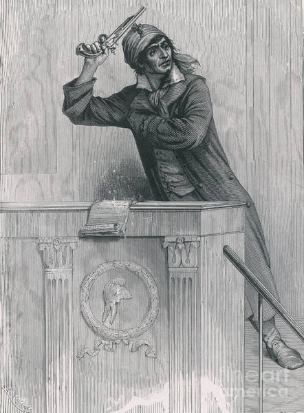 Public Speaker Photograph - Jean-paul Marat, French Revolutionist by Photo Researchers
