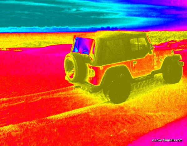 Rader Photograph - Jeep3 Heatmap by Melanie Rader