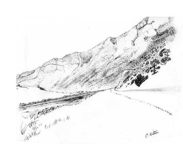 Drawing - Jefferson Canyon by C Sitton
