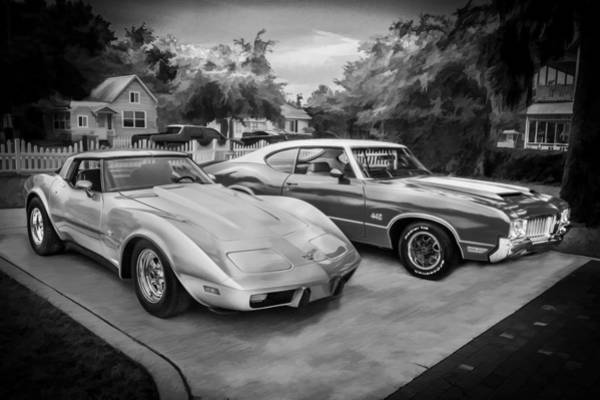 Oldsmobile 442 Wall Art - Photograph - Jeffs Cars Corvette And 442 Olds by Rich Franco