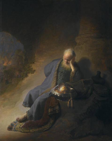 Painting - Jeremiah Lamenting The Destruction Of Jerusalem by Celestial Images