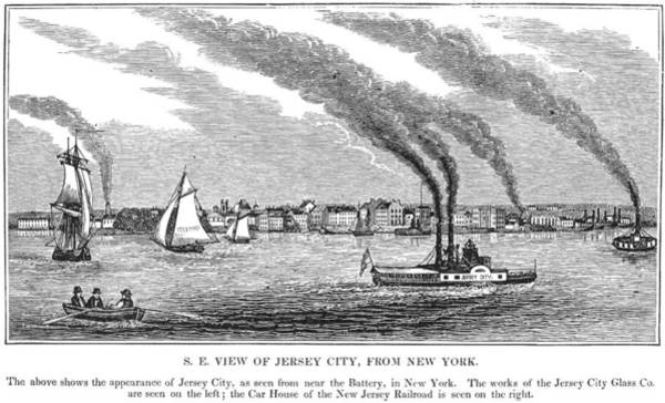 Riverboat Painting - Jersey City, 1844 by Granger