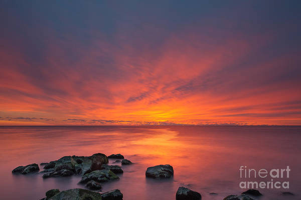 Fire In The Sky Wall Art - Photograph - Jersey Shore's Fire In The Sky by Michael Ver Sprill