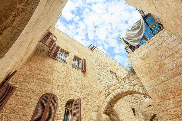 Old Photograph - Jerusalem, Old Town by Fredfroese