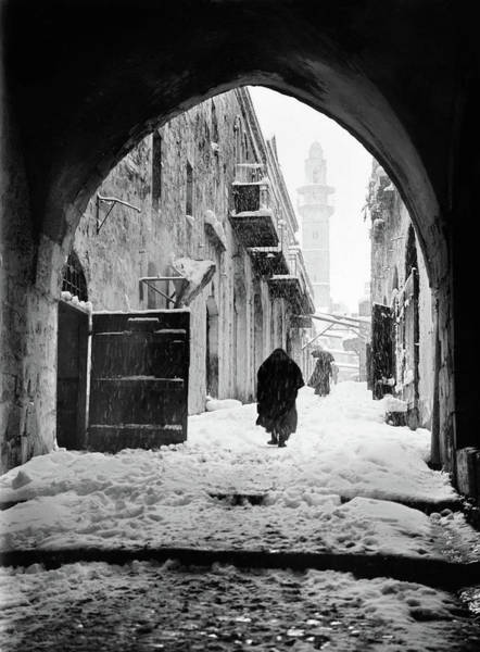 Station Of The Cross Photograph - Jerusalem Winter by Granger