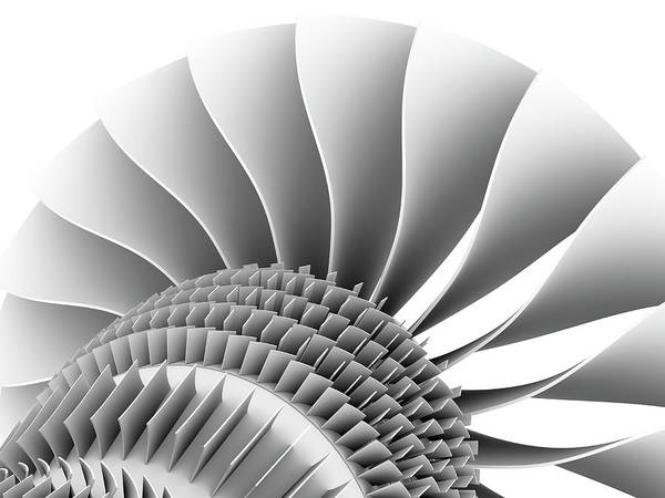 Wall Art - Photograph - Jet Engine by Alfred Pasieka/science Photo Library