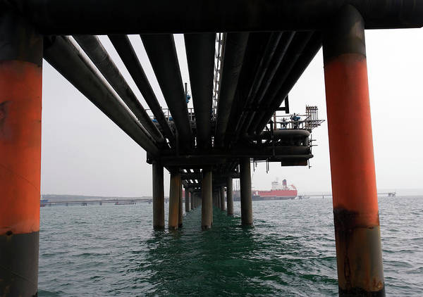 Terminal Photograph - Jetty At Liquefied Natural Gas Terminal by Adam Hart-davis/science Photo Library