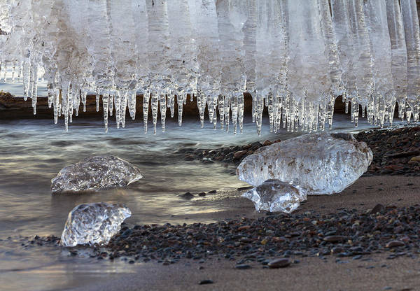 Glacial Photograph - Jewels Of Superior by Mary Amerman