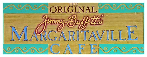 Menu Photograph - Jimmy Buffetts Margaritaville Cafe Sign The Original by John Stephens