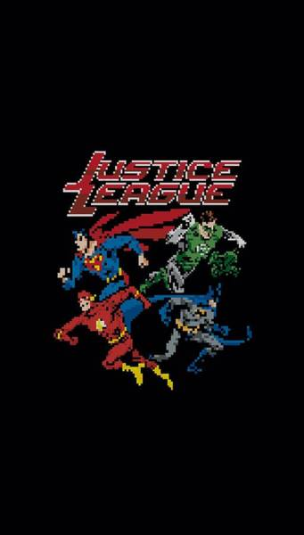 Justice League Digital Art - Jla - Pixel League by Brand A