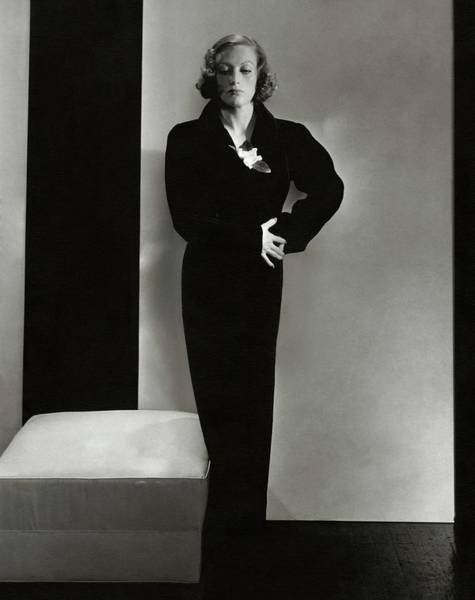 Joan Crawford Wearing A Schiaparelli Dress Art Print by Edward Steichen