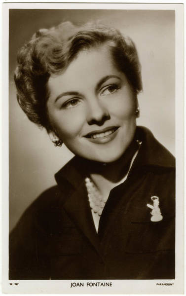 Wall Art - Photograph - Joan Fontaine (1917 - 2013), (joan De by Mary Evans Picture Library