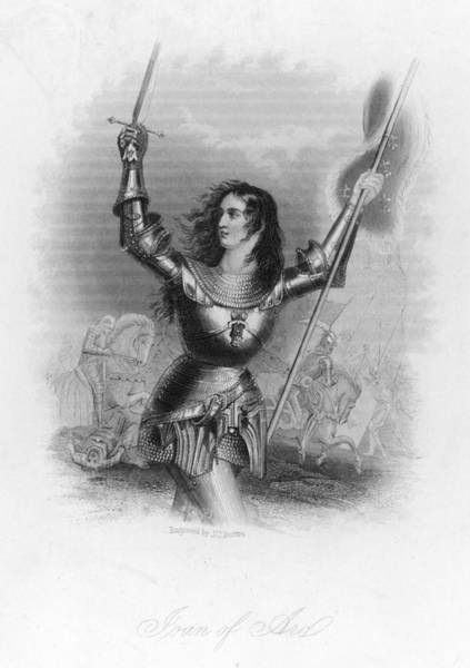 Wall Art - Drawing - Joan Of Arc  French Heroine In Armour by Mary Evans Picture Library