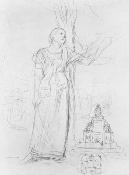 Arc Wall Art - Drawing - Joan Of Arc by Jules Bastien-Lepage