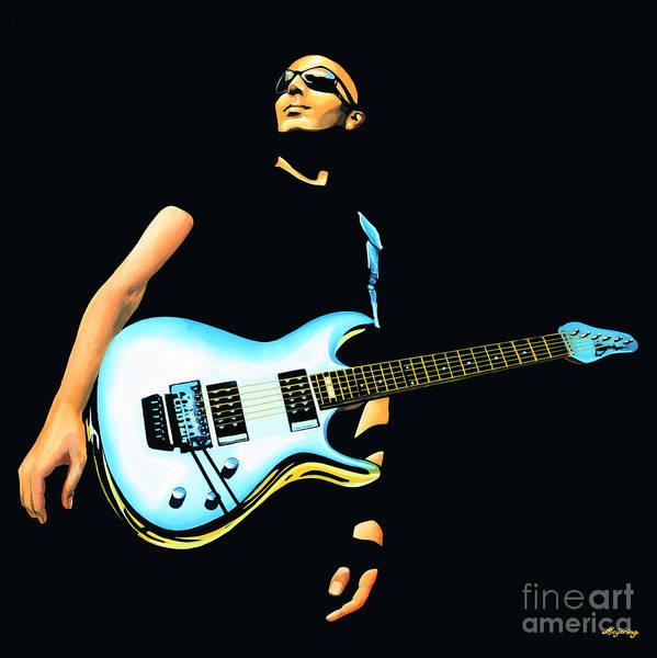 Performer Wall Art - Painting - Joe Satriani Painting by Paul Meijering